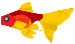 130 Fantail Goldfish A